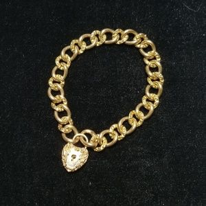 Jewelry - Victorian GF Curb Chain w/ Repousse Heart Lock